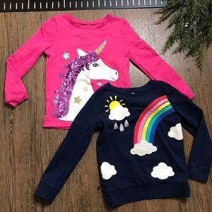 Carter's Girls Rainbow Unicorn Sweaters